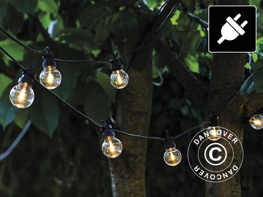 LED Fairy lights Supplement Set, Lucas, 3 m, Black/Clear/Warm White