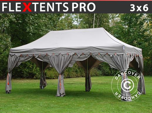 "Tente Pliante FleXtents PRO ""Raj"" 3x6m Latte/Orange"
