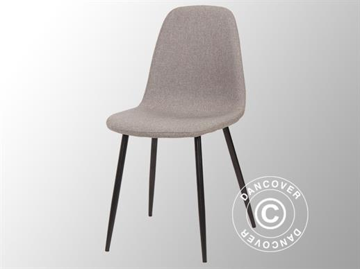 Dining chair, Venezia, Grey/Black, 4 pcs.