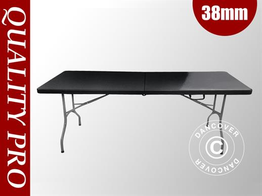 Table pliante 182x74x74cm, noir (10 pcs.)