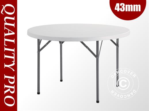 Table de banquet ronde Ø 116 cm, gris clair (5 pcs.)