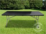 Table pliante 182x74x74cm, noir (10 pcs.) - 2
