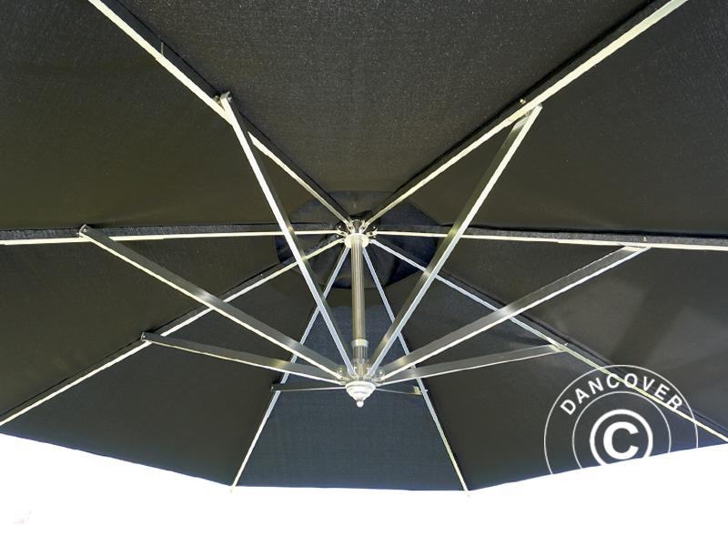 Parasolvoet Voor Zwevende Parasol.Zwevende Parasol Bahamas 4m Zwart Inkl Parasolvoet